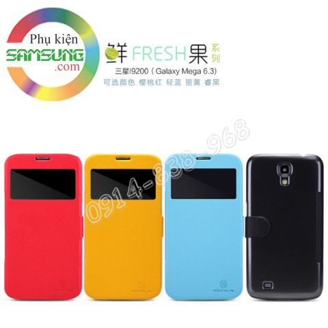 Bao da Galaxy Mega 6.3 Nillkin fresh series dạng S View cover