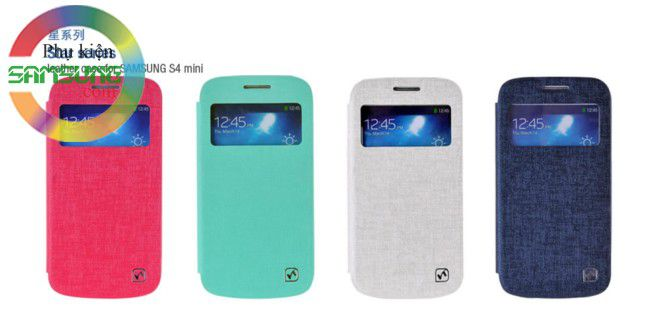 Bao da Galaxy S4 mini i9190 S view cover hiệu Hoco