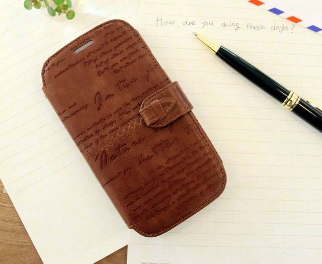 Bao da Galaxy S3 Zenus Lettering Diary Collection
