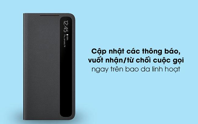 Bao da Clear view S21 Plus TPHCM