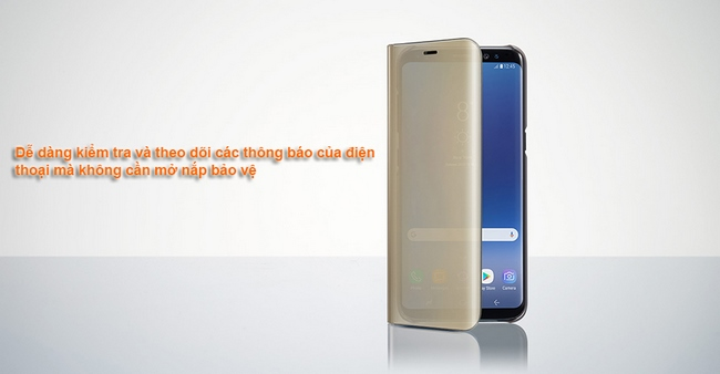 Bao da chính hãng Galaxy S8 Plus Clear View Standing cover
