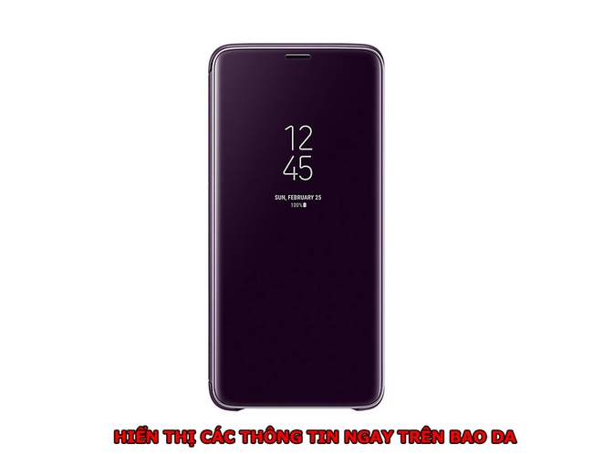 bao da Clear View Standing Cover Samsung S9 Plus
