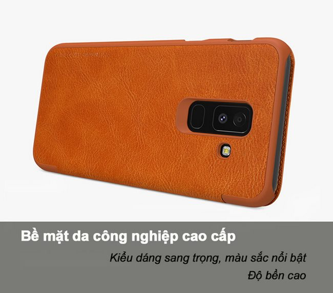 Bao da Galaxy A6 Plus 2018 Nillkin Qin