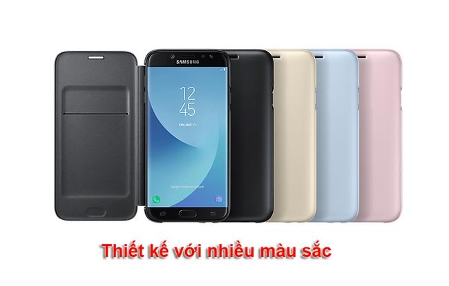 Bao da Galaxy J7 Pro Wallet Cover