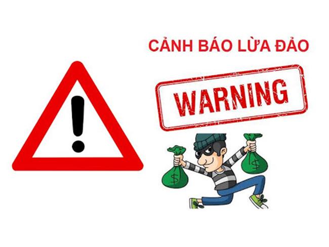 Cảnh báo lừa đảo