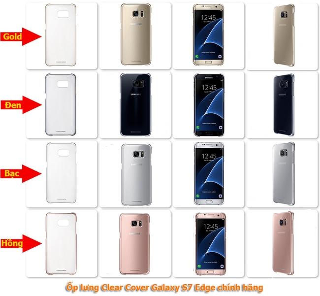 Ốp lưng Clear Cover S7 Edge chính hãng