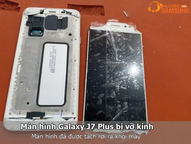 Ép kính màn hình Galaxy J7 Plus