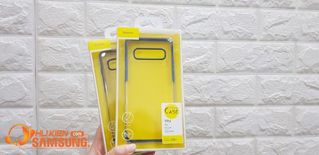 ốp lưng Samsung S10 Plus viền màu hiệu Baseus hcm