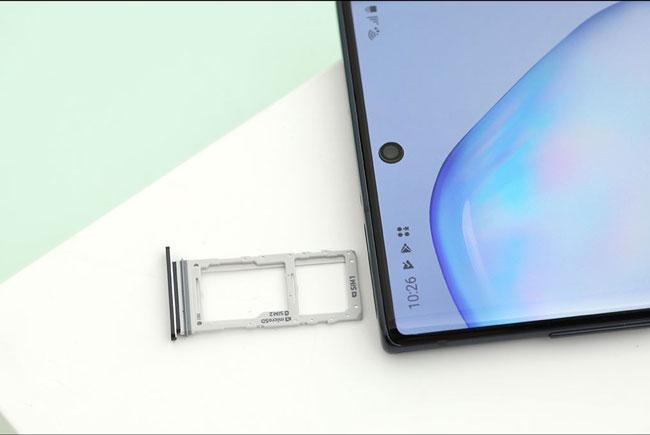 Khay sim và thẻ nhớ Galaxy Note 10 Plus chính hãng