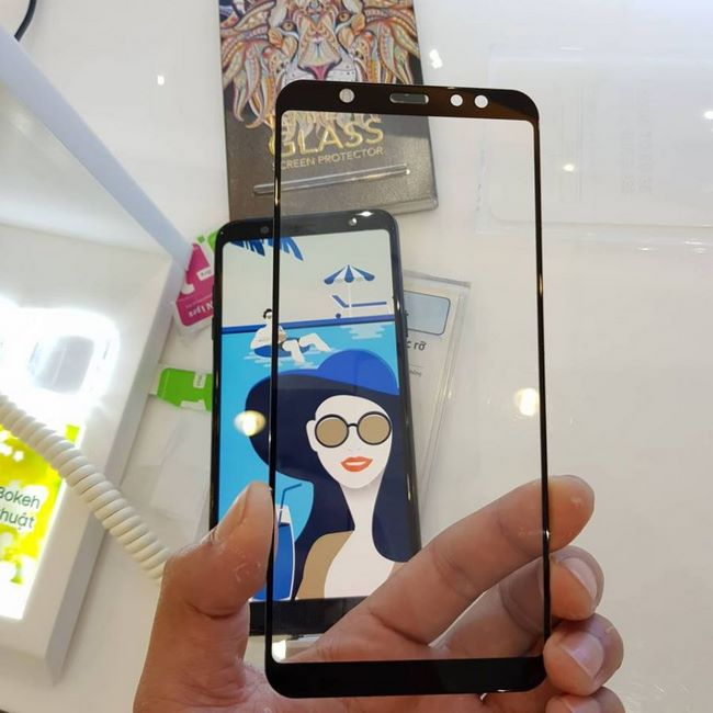 Kính cường lực 5D Samsung A6 Plus full keo