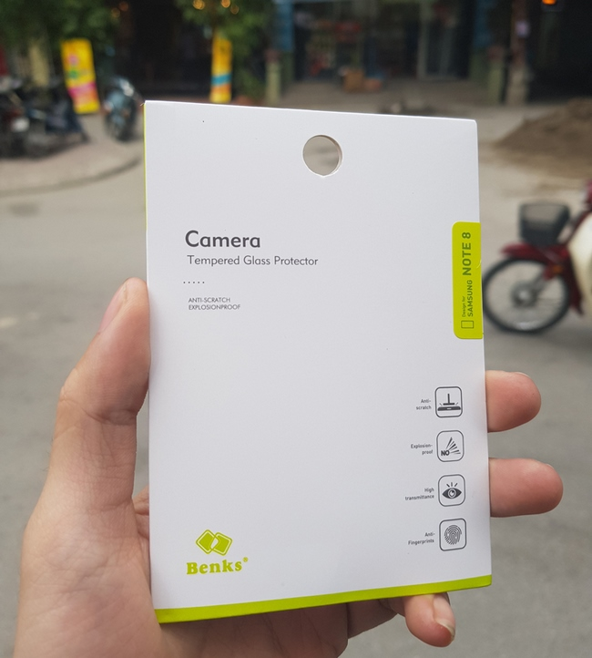 Kính cường lực cho camera sau Galaxy Note 8 hiệu Benk