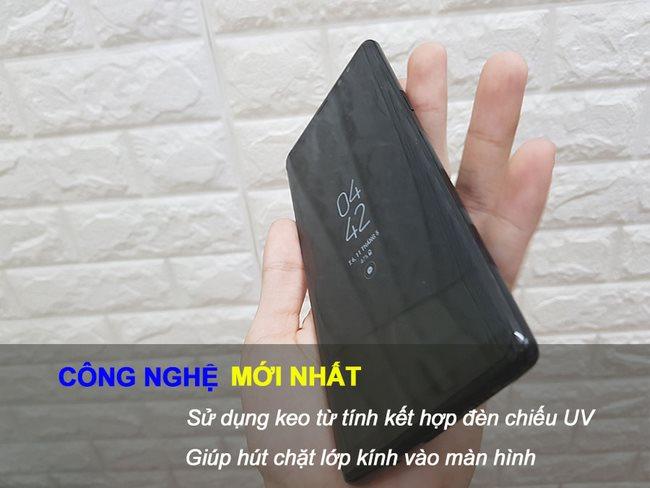 Kính cường lực Full keo Note 8 kết hợp tia UV