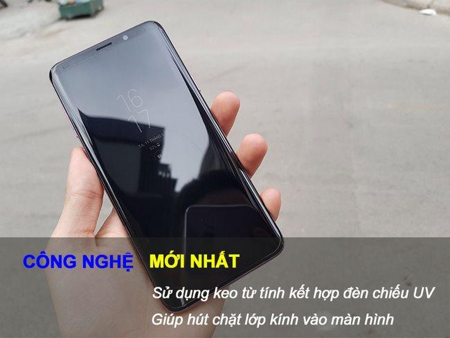Kính cường lực Full keo Galaxy S9 Plus kết hợp UV hiệu Rockymile