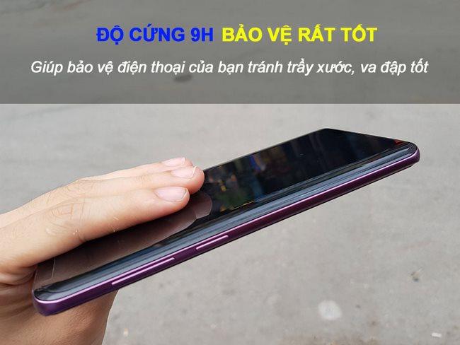 Kính cường lực full keo Galaxy S9 Plus kết hợp UV có độ cứng 9H