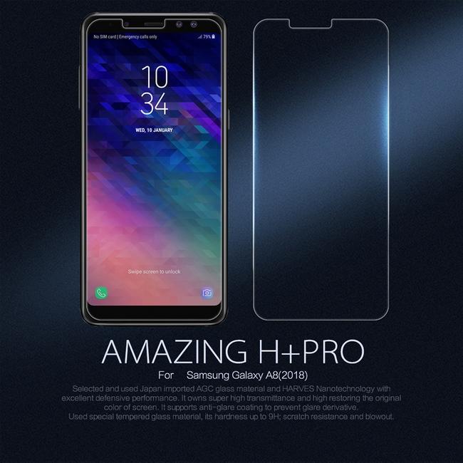 Kính cường lực Galaxy A8 + Plus 2018 hiệu Nillkin H+ Pro tại tphcm| Uy tín-Tận tâm