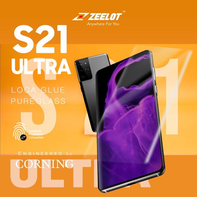 Miếng dán kính cường lực S21 Ultra Zeelot