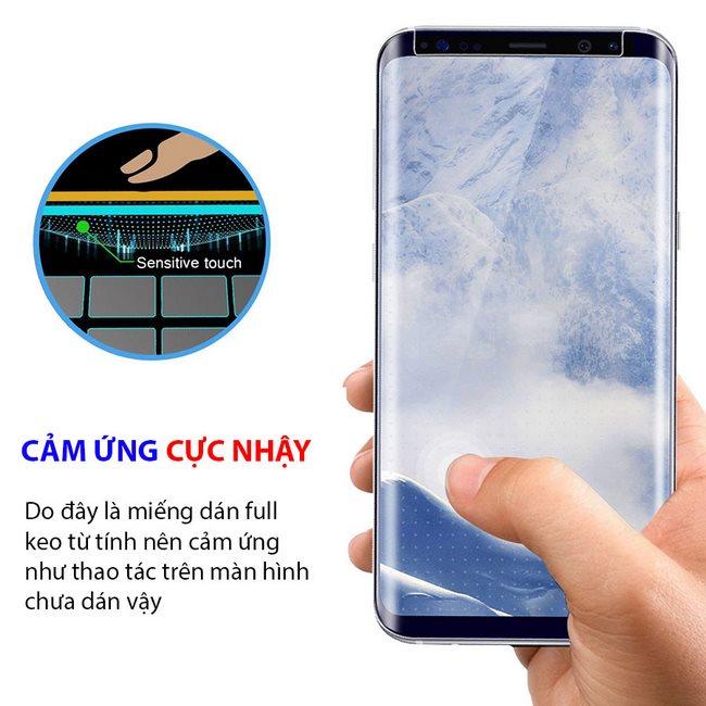 Kính cường lực Full keo Galaxy S9 Plus Rocky Mile mượt như khi chưa dán