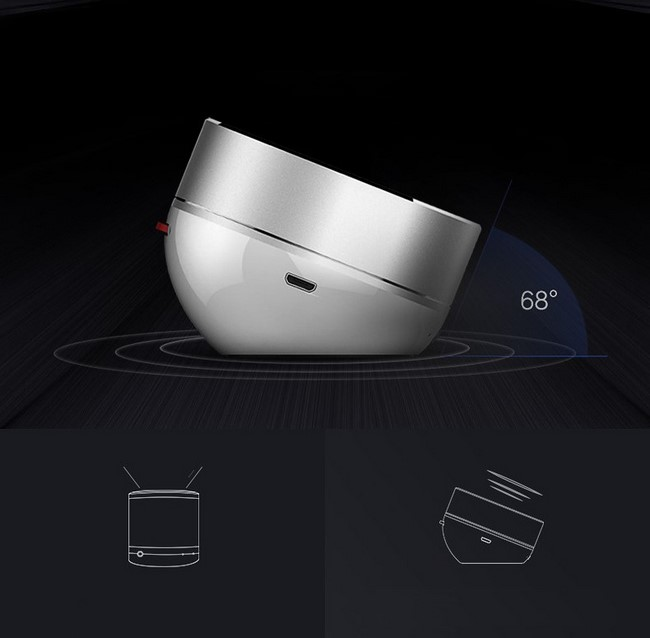 Chân đế vát cong tạo góc 68 độ cho sản phẩm dễ nghe hơn