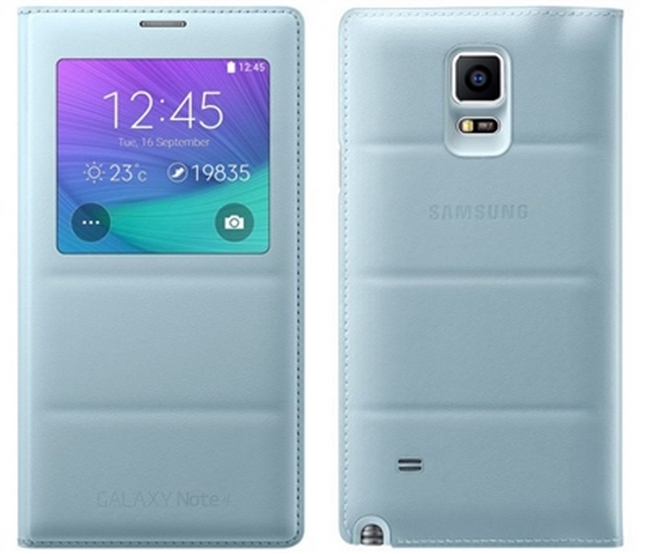 Bao da Galaxy Note 4 N910 Sview màu Padding - Light Blue