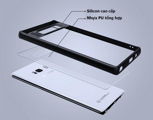 Ốp lưng chống sốc trong suốt cho Galaxy Note 8 hiệu Ipaky