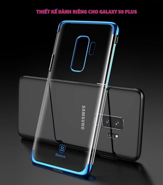 Ốp lưng viền màu Galaxy S9 Plus hiệu Baseus Glitter