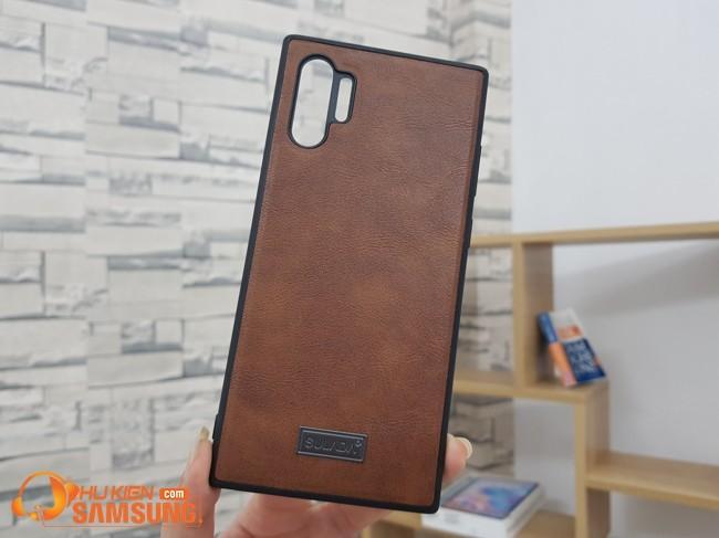 ốp lưng Samsung Note 10 Plus da chống vân Sulada đẹp