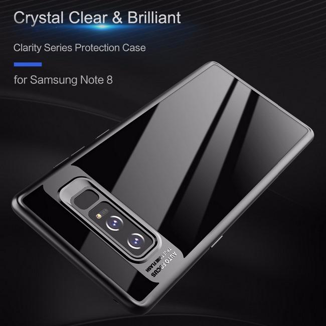Ốp lưng viền màu Galaxy Note 8 hiệu Rock