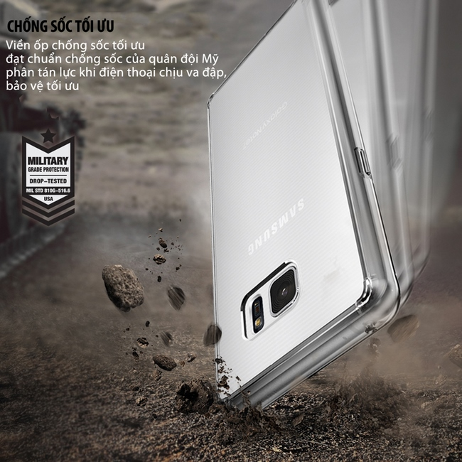 Ốp lưng Galaxy Note FE Ringke Fusion