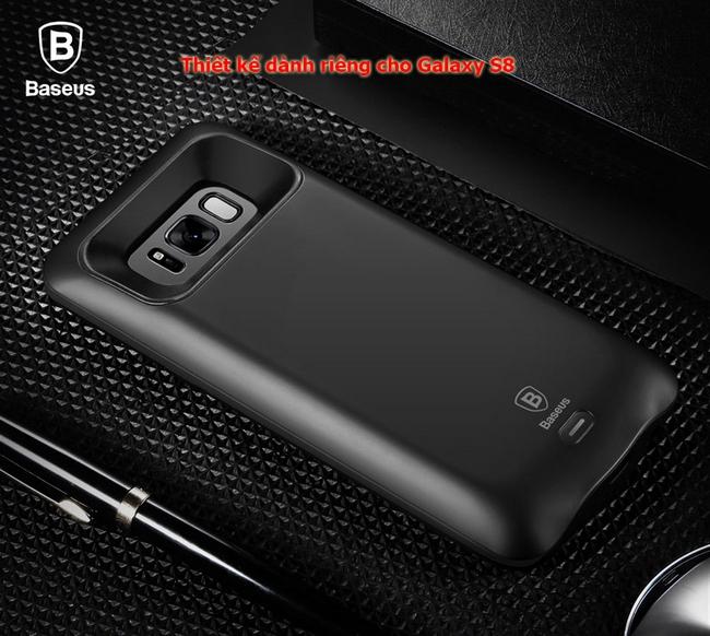 Ốp lưng kiêm pin dự phòng Galaxy S8 hiệu Baseus