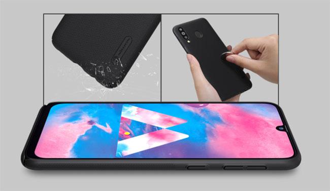 p lưng sần Samsung M30 Nillkin đẹp