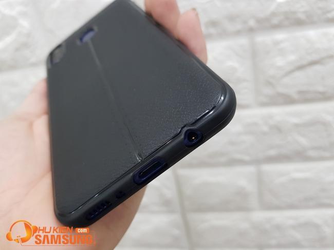 Ốp lưng silicon M20 giả da giá rẻ hcm