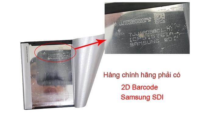 Pin chính hãng Galaxy S4 phải có chữ Samsung SDI