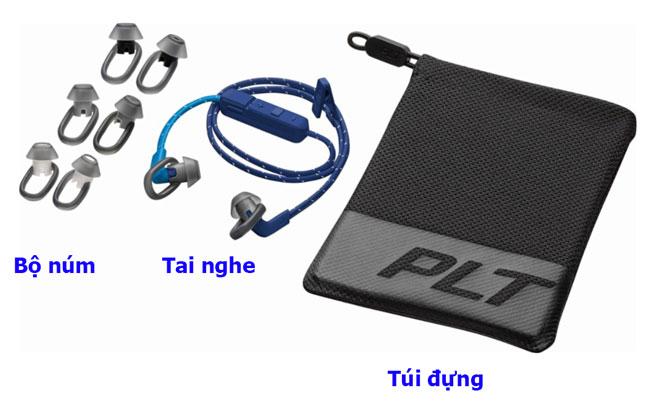 Nguyên bộ phụ kiện của tai nghe Plantronics backbeat fit 305