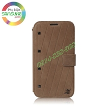 Bao da Galaxy Note 2 hiệu Zenus Neo Vintage Diary Collection ( Da thật )