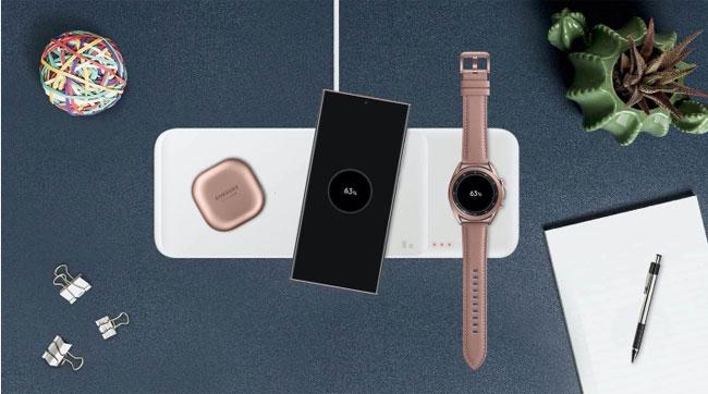 sạc nhanh không dây Samsung EP-P6300 - Wireless Charger Trio