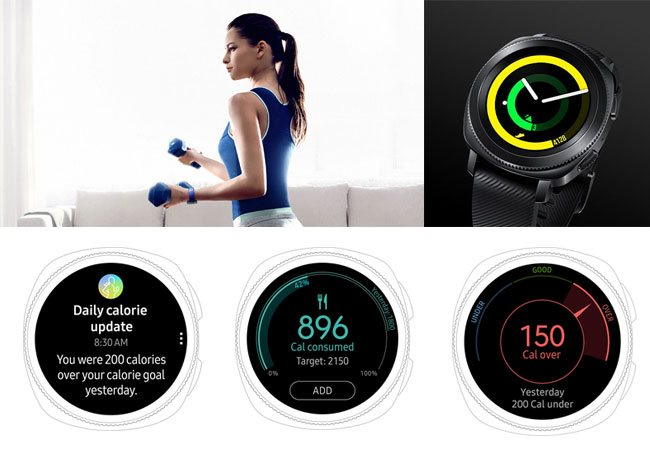 Samsung Gear Sport theo dõi tình trạng sức khỏe