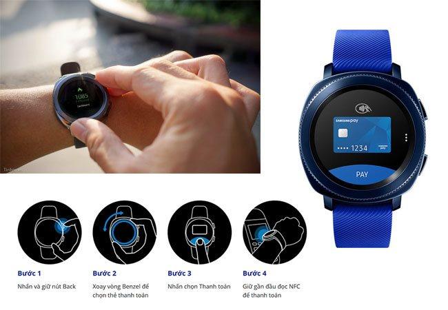 Samsung Gear Sport tích hợp thanh toán Samsung Pay một chạm
