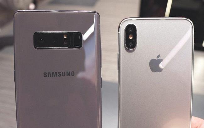 so sánh Note 8 và iPhone 8