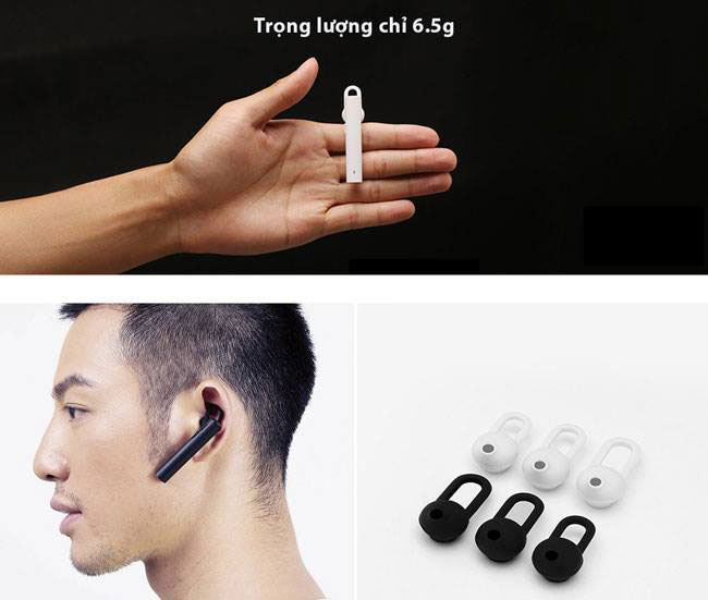 Tai nghe bluetooth Xiaomi Gen 2 Youth Version trọng lượng siêu nhẹ chỉ 6.5 g