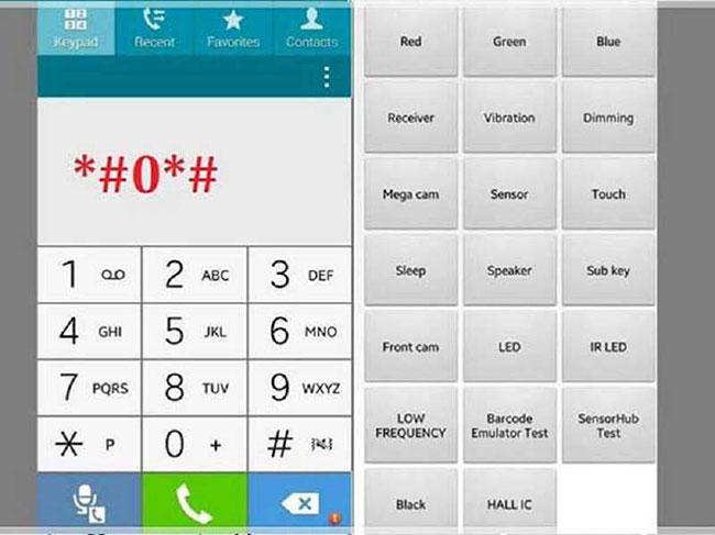 Cách test mà n hình Samsung