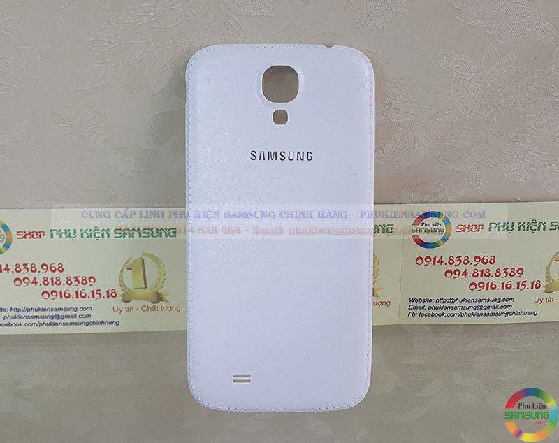 nắp da cho Galaxy S4 i9500 trắng