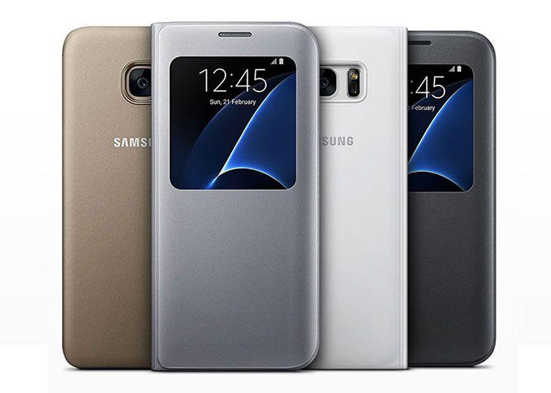 Bao da Sview Cover Samsung S7 Edge chính hãng