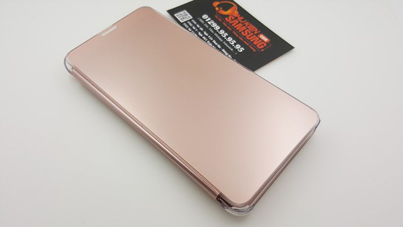 Bao da Clear View Galaxy Note 5 màu rose gold rất đẹp, phù hợp với phái nữ