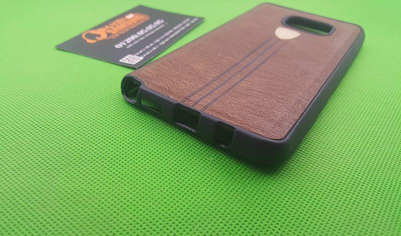 Ốp lưng Silicon giả da Galaxy Note 5