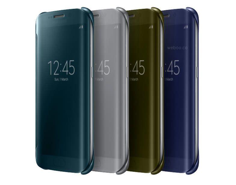 Bao da Clear View cover Galaxy S6 edge