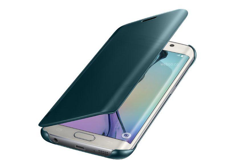 Clear view Galaxy S6 edge màu xanh rất đẹp