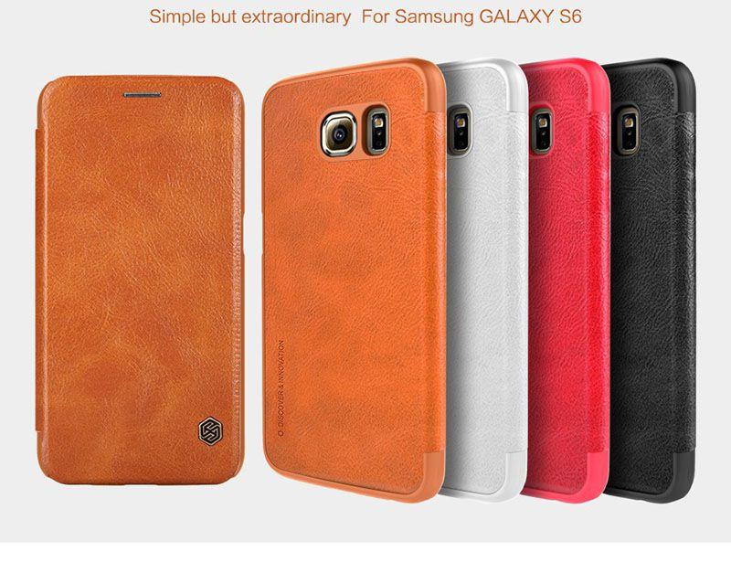 Bao da Galaxy S6 hiệu Nillkin với nhiều màu sắc phong phú