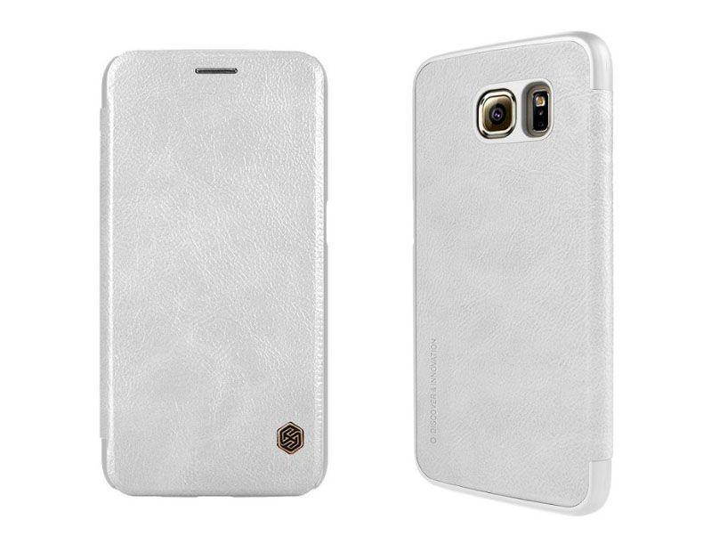Bao da Galaxy S6 hiệu Nillkin QIN màu trắng