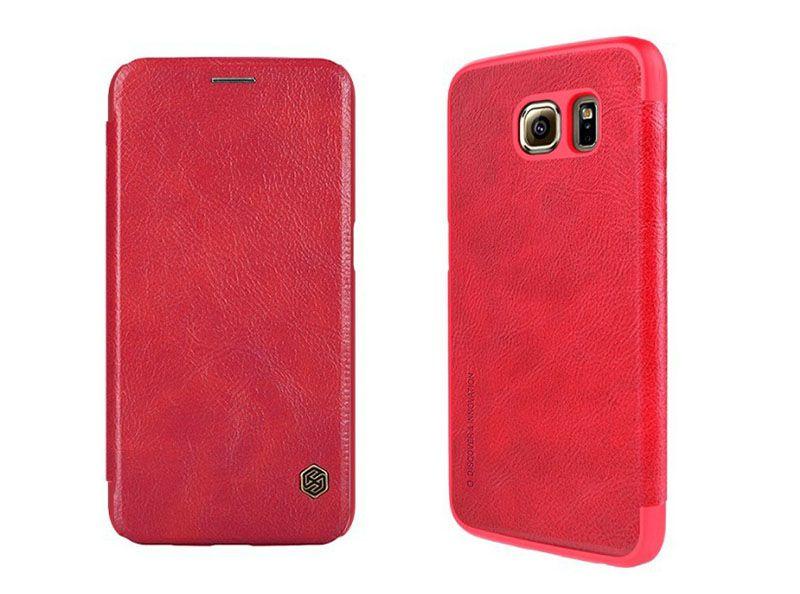 Bao da Galaxy S6 hiệu Nillkin QIN màu đỏ