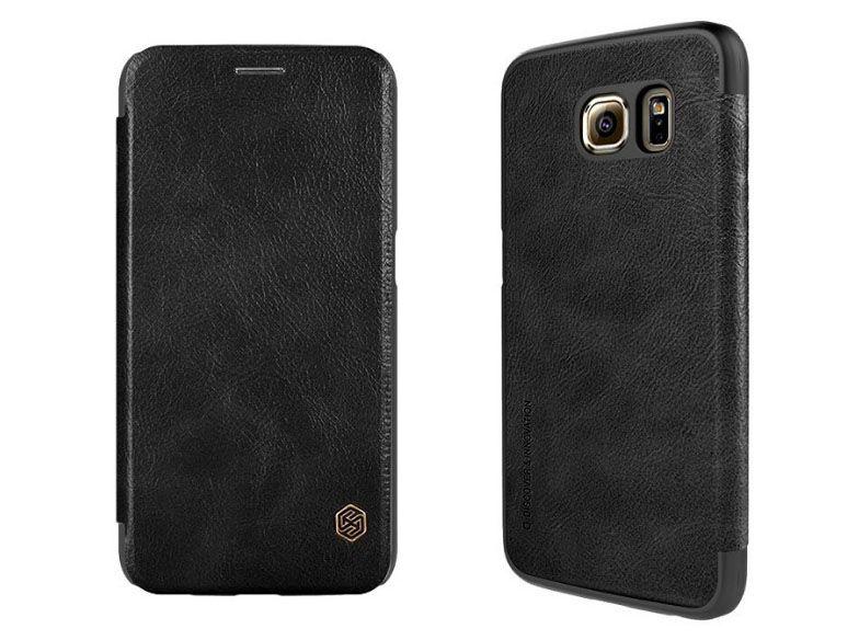 Bao da Galaxy S6 hiệu Nillkin QIN chính hãng màu đen